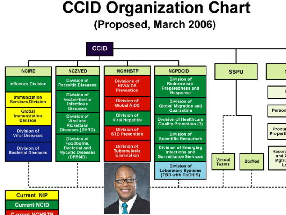 CDC NCHHSTP Organizational Chart Division of Viral Hepatitis Division of Sexually Transmitted Diseases Division of HIV/AIDS Prevention Division of TB