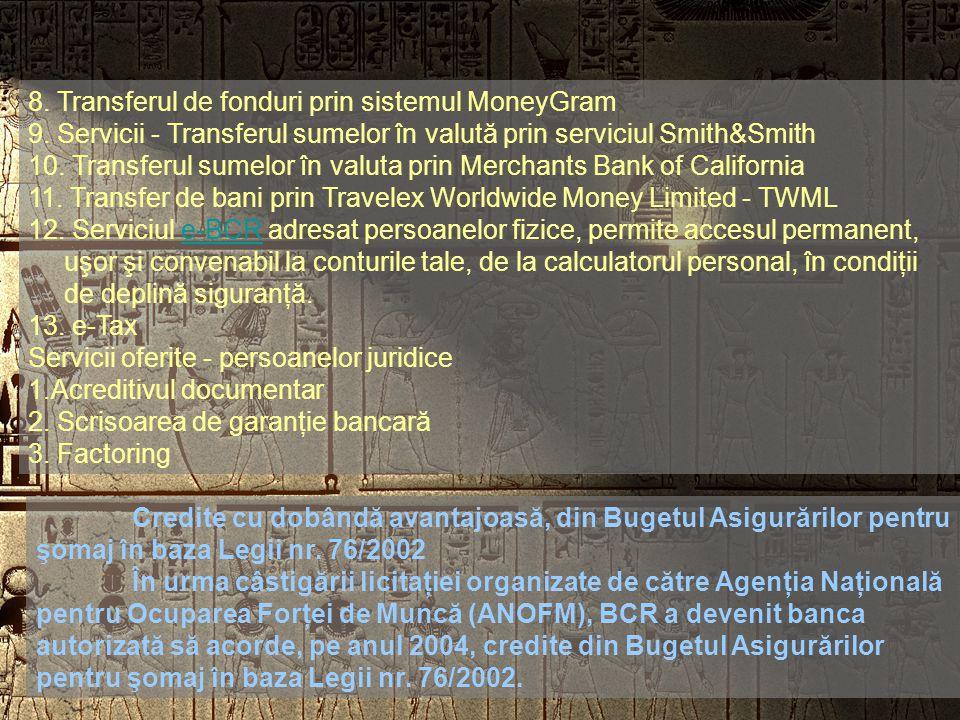 SERVICII OFERITE - Servicii bancare.