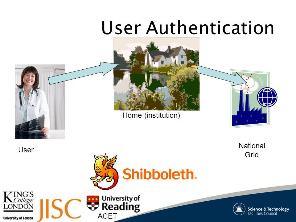 ACET Shibboleth login Home Inst. Home Inst. iRODS