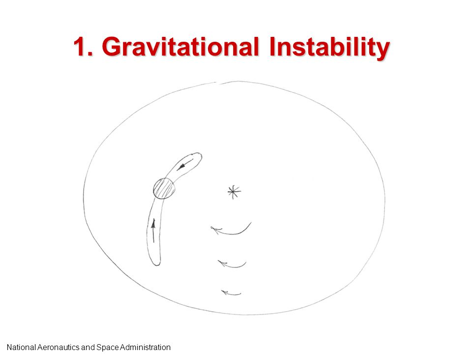 1. Gravitational Instability National Aeronautics and Space Administration