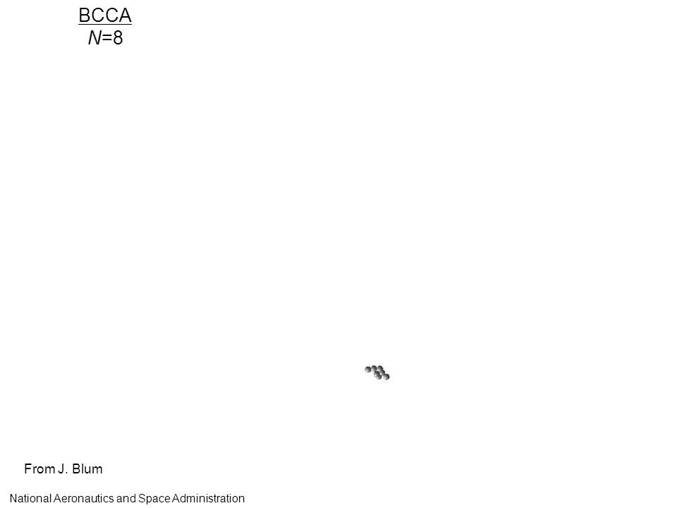 BCCA N=8 From J. Blum National Aeronautics and Space Administration
