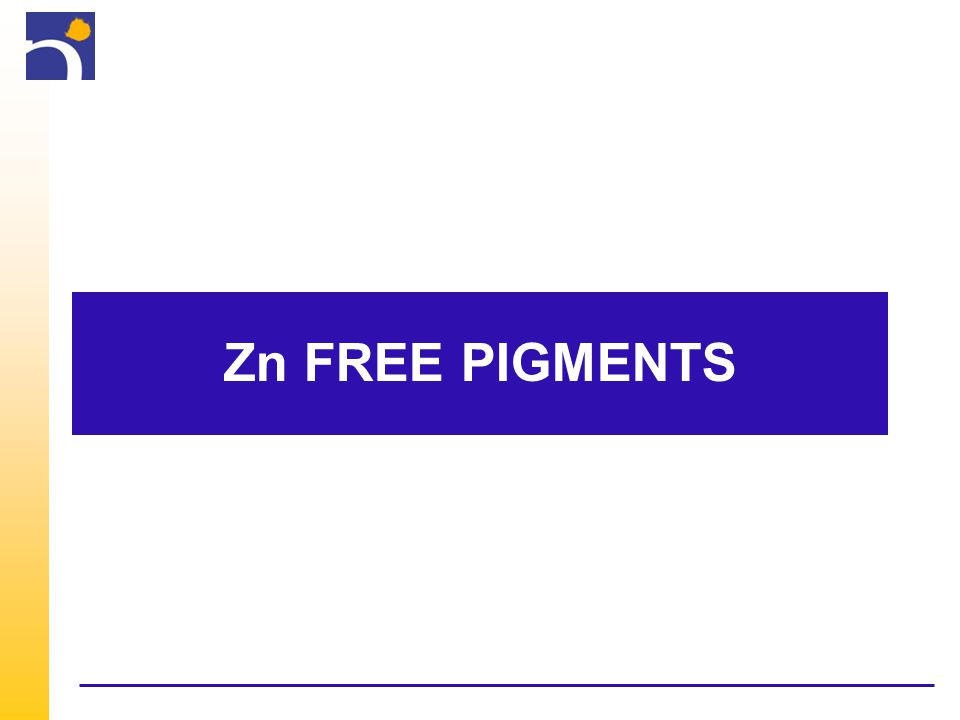 Zn FREE PIGMENTS