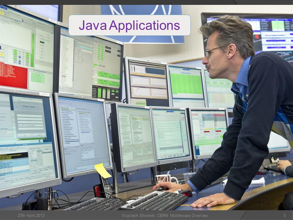 Wojciech Sliwinski, CERN Middleware Overview5 Java Applications 25th April 2013