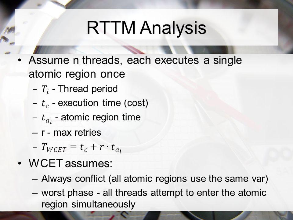 RTTM Analysis