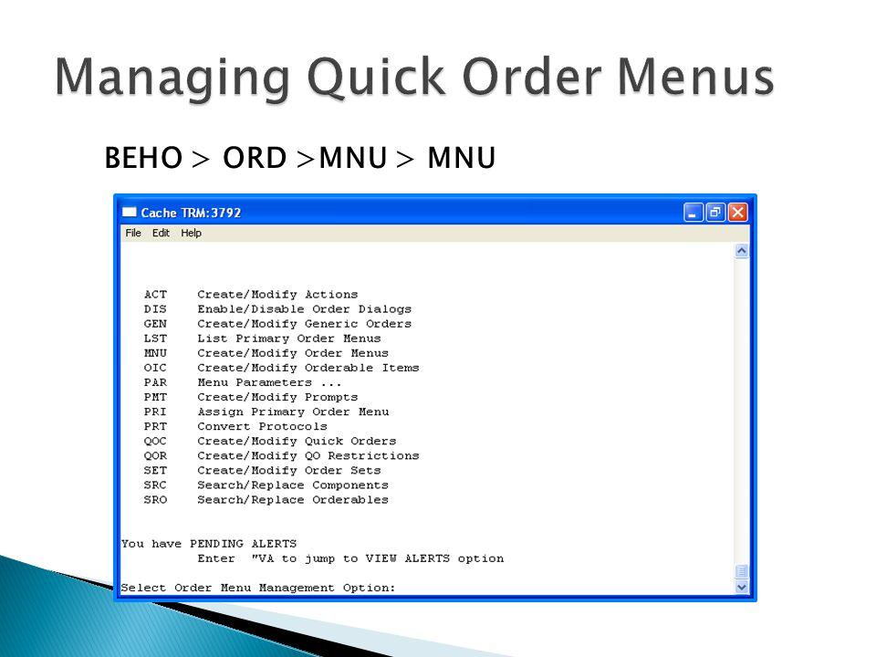 BEHO > ORD >MNU > MNU