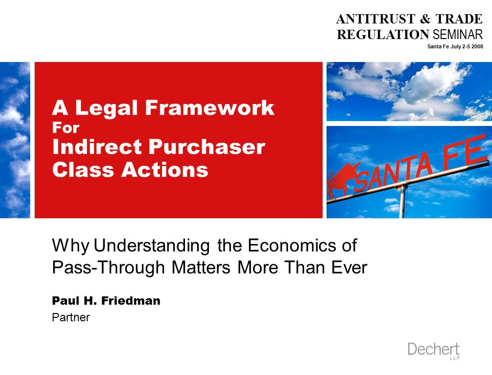11 A Case Study: In re OSB Antitrust Litigation  Court denied certification of proposed home buyer class –Plaintiffs have not shown that impact and causation are susceptible of common proof –Court rejected plaintiffs' economic testimony because expert failed to identify the variables needed to prove theory of pass-through of OSB overcharges to home price –Court faulted plaintiffs' economist for relying almost entirely on economic theory and generalizations about market competitiveness and 'elasticities' of supply and demand without analyzing the competitiveness or elasticities of actual housing markets.