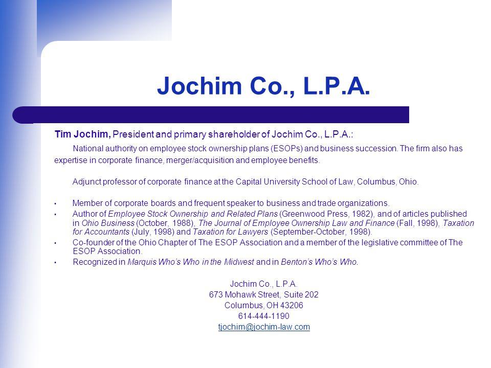 Jochim Co., L.P.A.