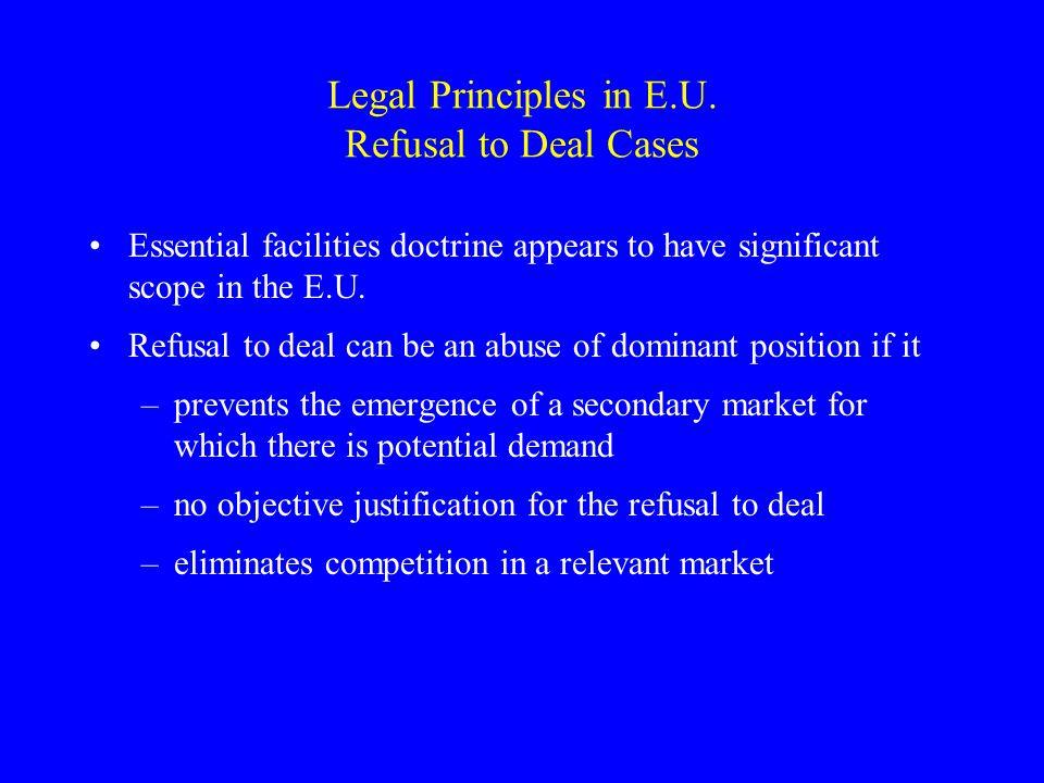 Legal Principles in E.U.