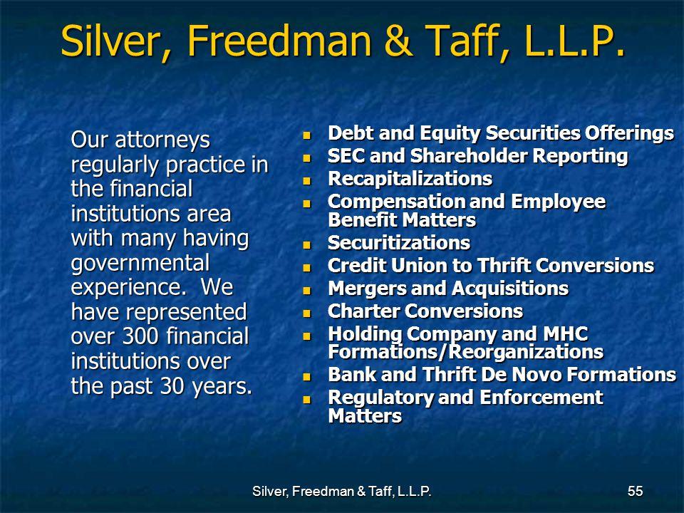 Silver, Freedman & Taff, L.L.P.55 Silver, Freedman & Taff, L.L.P.