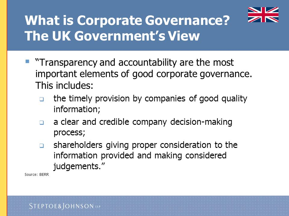 Possible Forthcoming US Changes  SEC pressed to pursue enforcement agenda  Federalised corporate governance standards are on the rise  Say on pay appears likely  Shareholder activists have new momentum  Changes by SEC and new Delaware rules (and similar changes in other states' corporate laws) likely will encourage more shareholder activism  Pressure to add majority vote provisions for election of directors combined with change to NYSE rules likely will make it harder to get elected, and combined with changes to proxy access rules, likely to increase number of contested elections  Bylaw changes should be considered in light of how they will affect company's anti-takeover defences