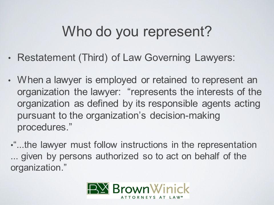 Who do you represent.