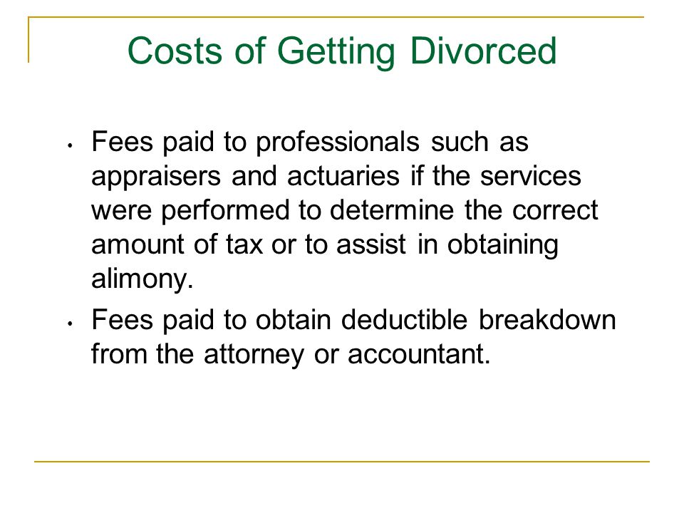 Fees paid to professionals such as appraisers and actuaries if the services were performed to determine the correct amount of tax or to assist in obta