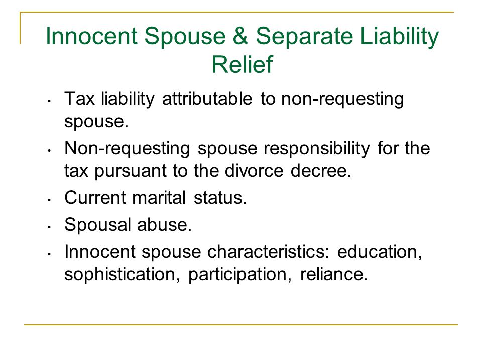 Tax liability attributable to non-requesting spouse.
