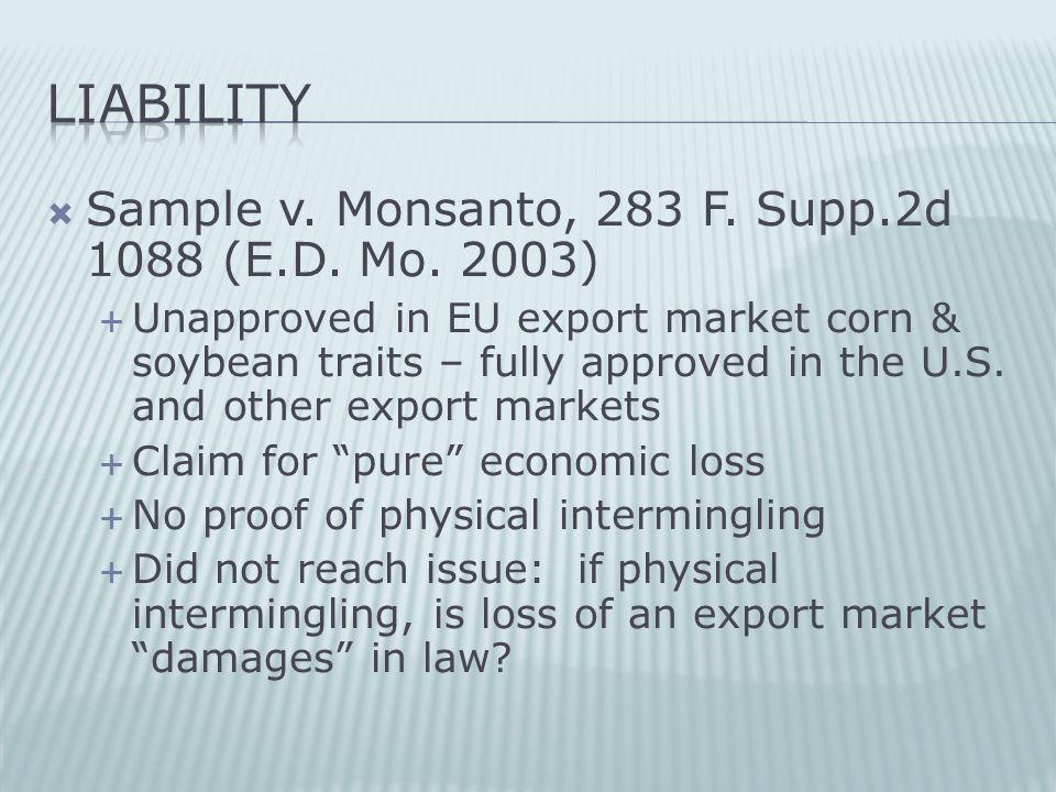  Sample v. Monsanto, 283 F. Supp.2d 1088 (E.D. Mo.