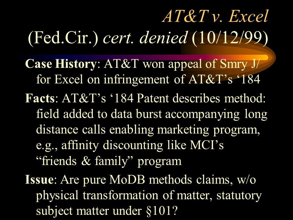 AT&T v. Excel (Fed.Cir.) cert.