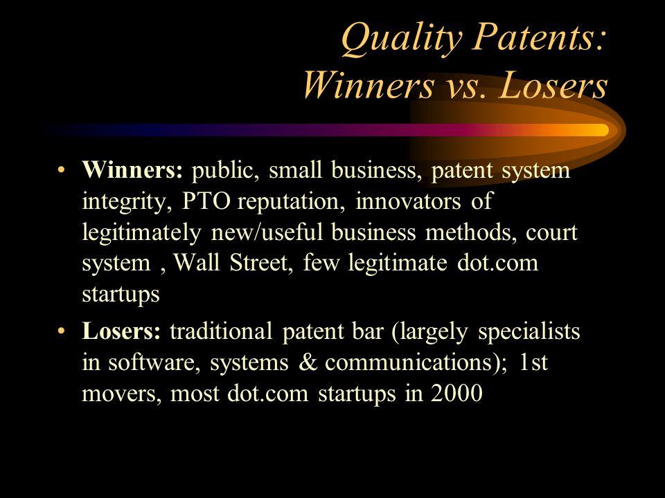 Quality Patents: Winners vs.