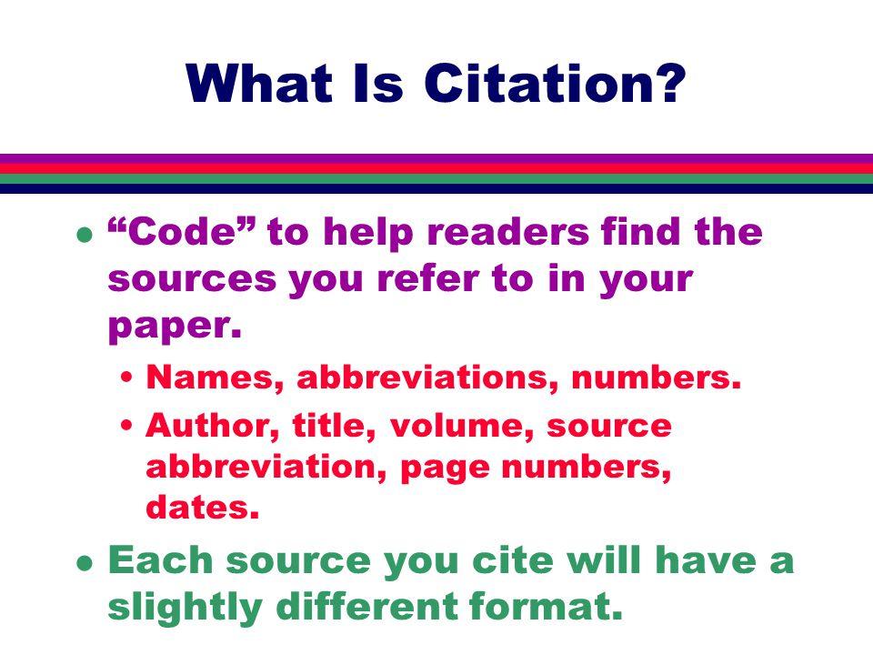 Organization l Part One:Introductory Material l Part Two:Citation Basics l Part Three: Specific Print Sources Primary, then secondary l Part Four:Electronic Sources l Part Five:Incorporating Citations l Part Six:Quotations