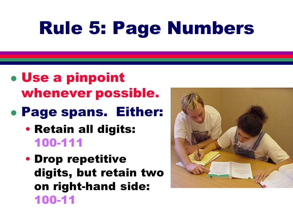Rule 4: Numbers l Generally spell out zero through ninety- nine.