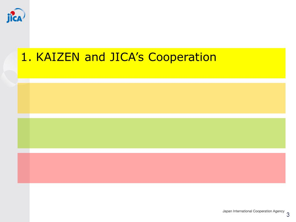 1. KAIZEN and JICA's Cooperation 3