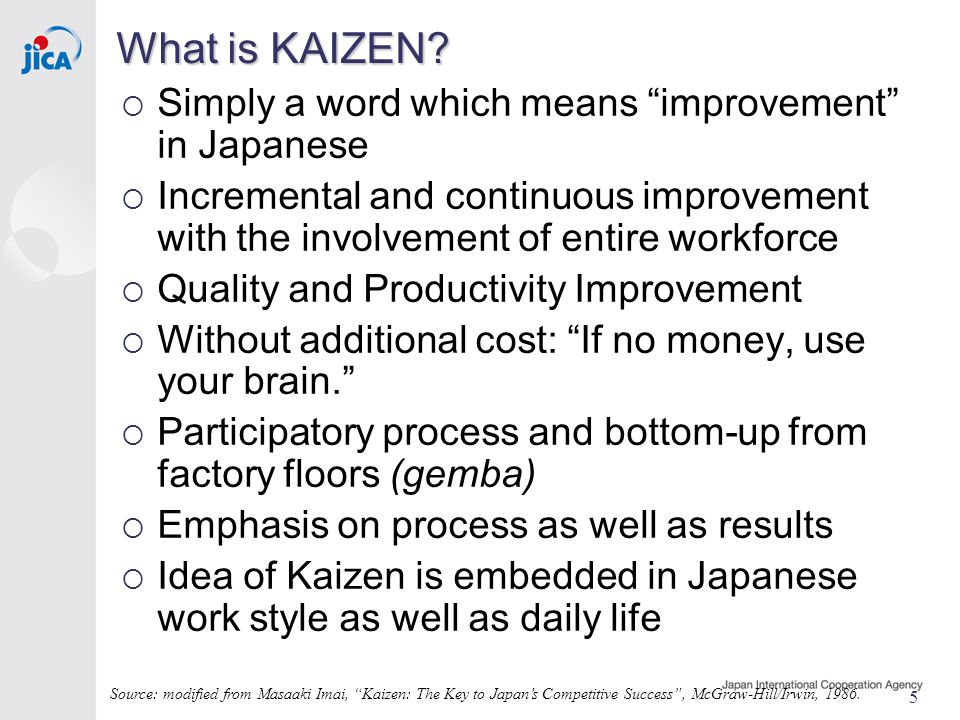 5 What is KAIZEN.