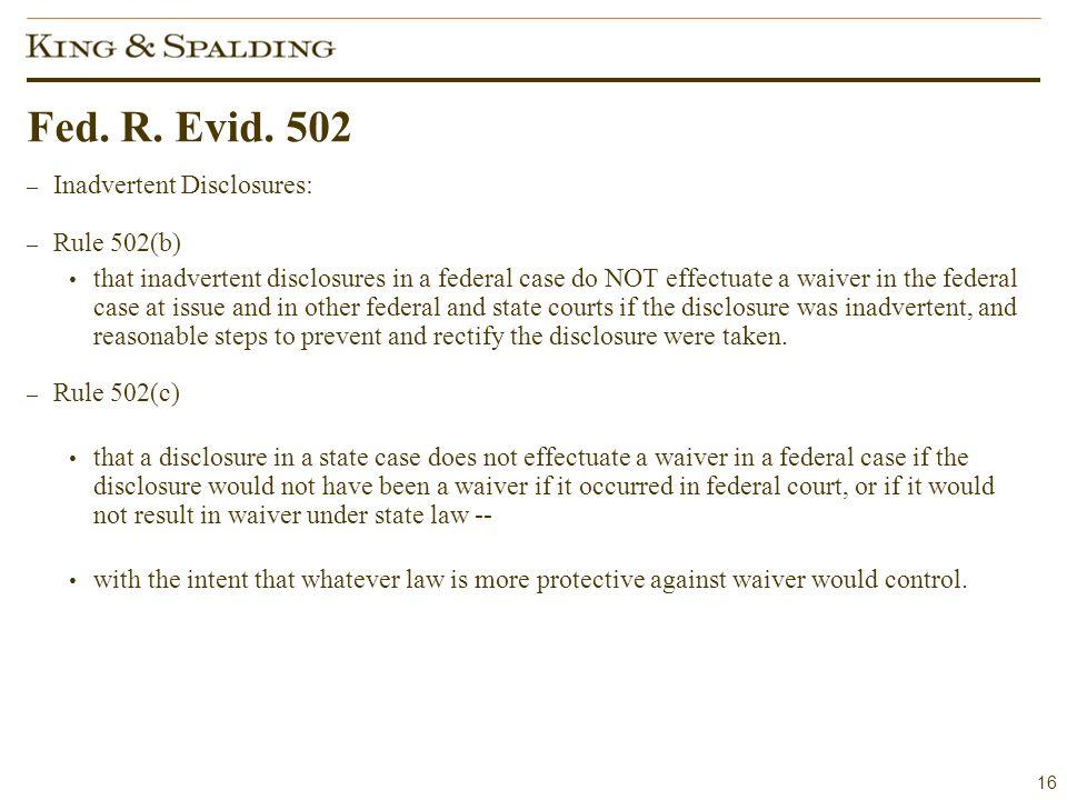 16 Fed. R. Evid.