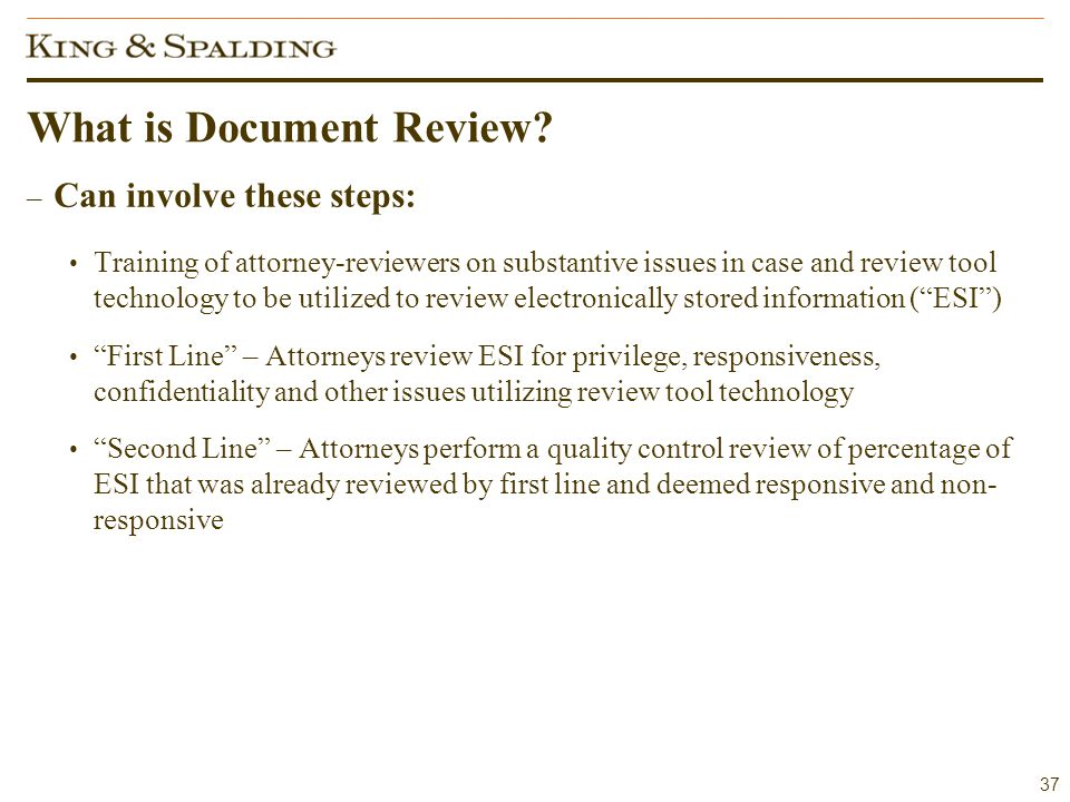 37 What is Document Review.