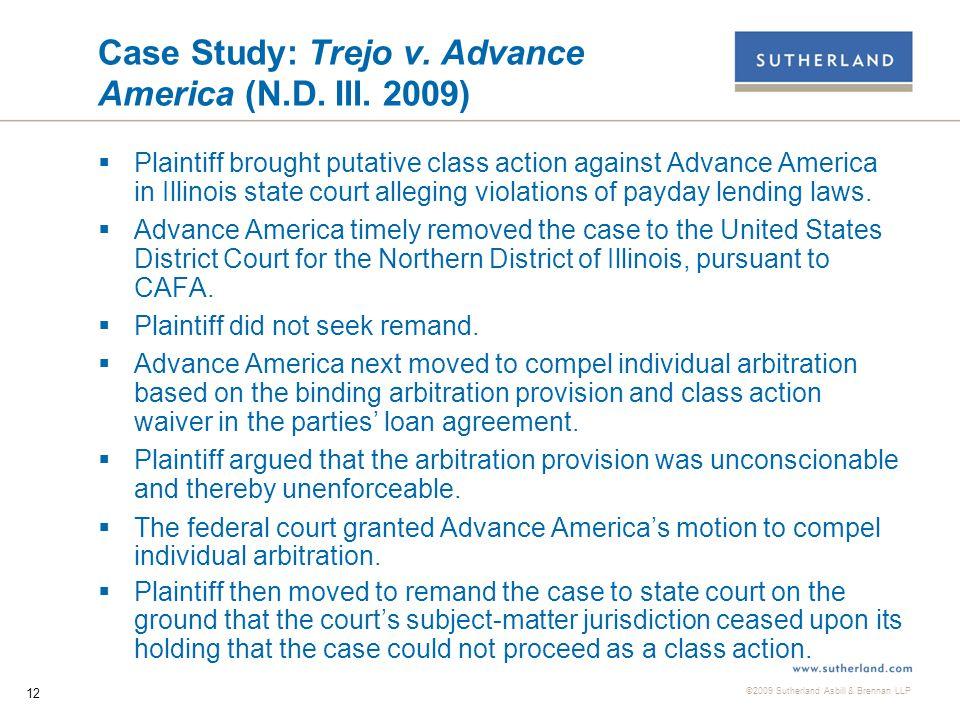©2009 Sutherland Asbill & Brennan LLP 12 Case Study: Trejo v.