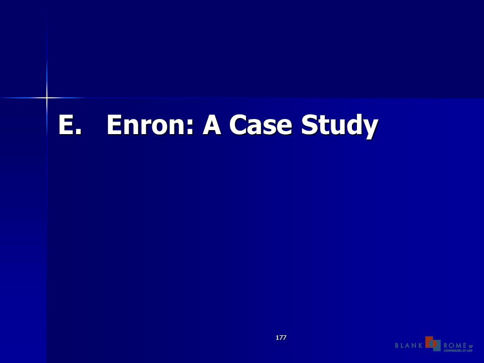177 E.Enron: A Case Study