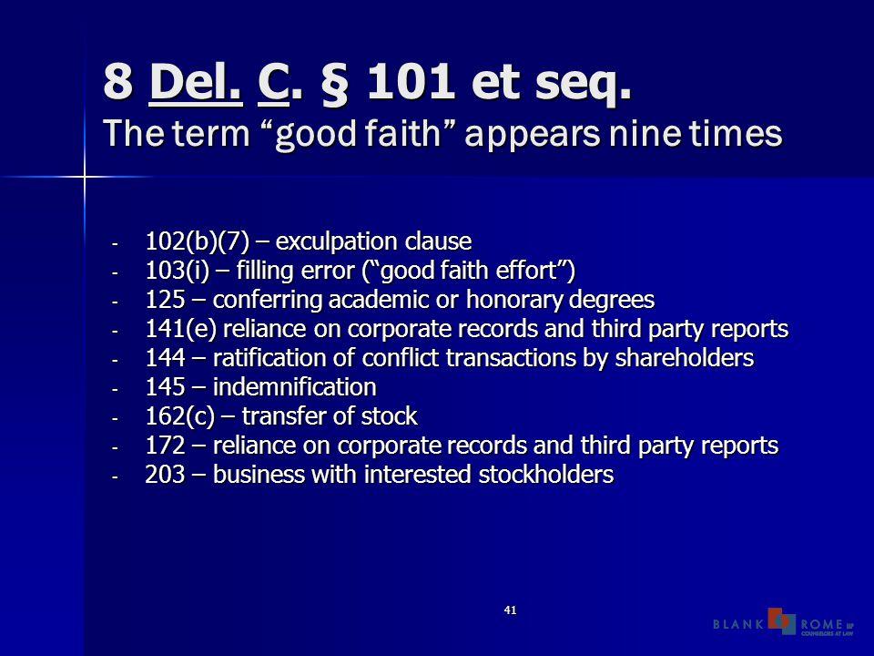 41 8 Del. C. § 101 et seq.