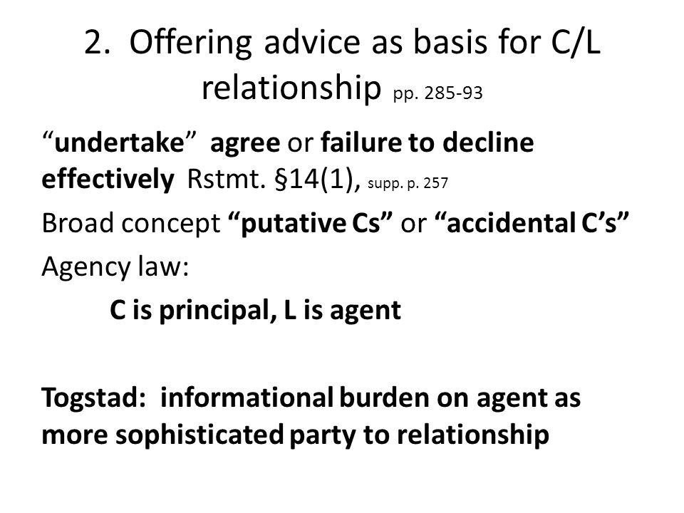 Togstad vs.Veseley (MN '80) pp. 286-93 Case w/in case: Underlying medical malpractice by Dr.