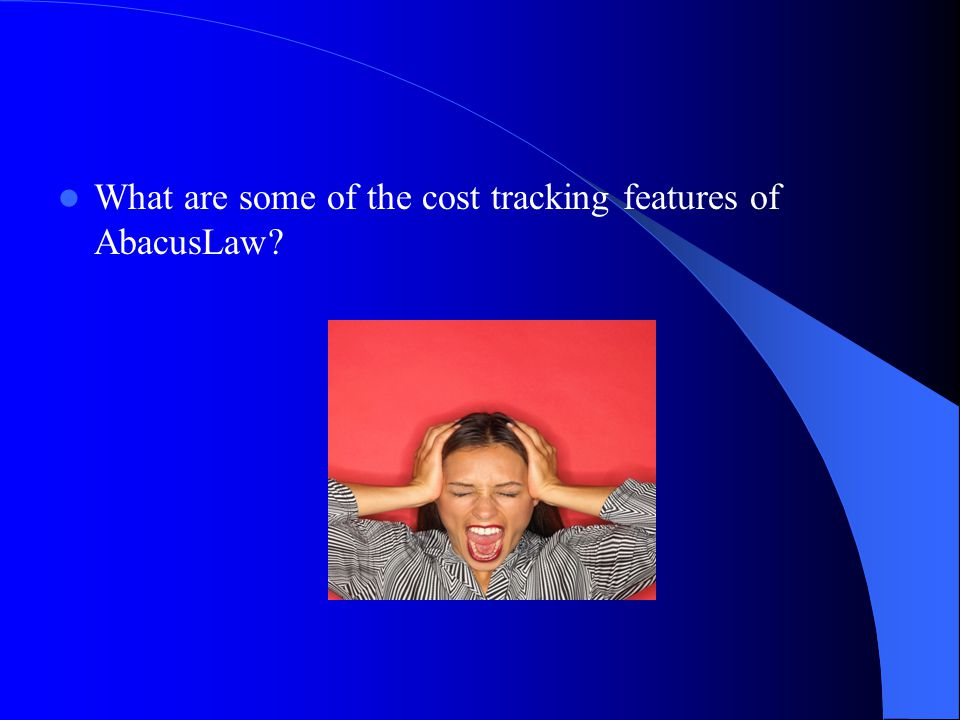 What are some of the cost tracking features of AbacusLaw?