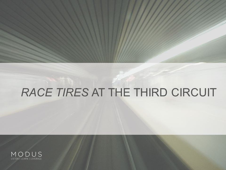 RACE TIRES AT THE THIRD CIRCUIT
