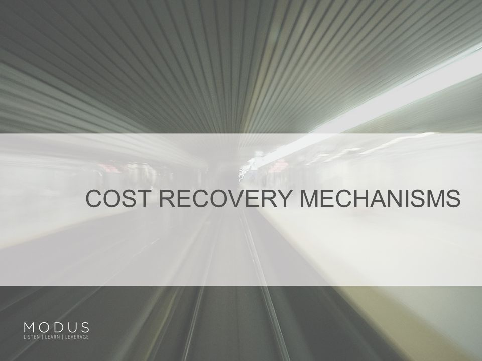 COST RECOVERY MECHANISMS