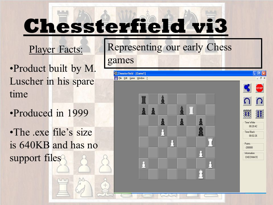 Computer A CPU = White Human = Black Computer B CPU = Black Human = White Move: CPU A = Human B Human A = CPU B The process by which we locked these Chess Masters in battle for supremacy in our Artificial Chess Universe