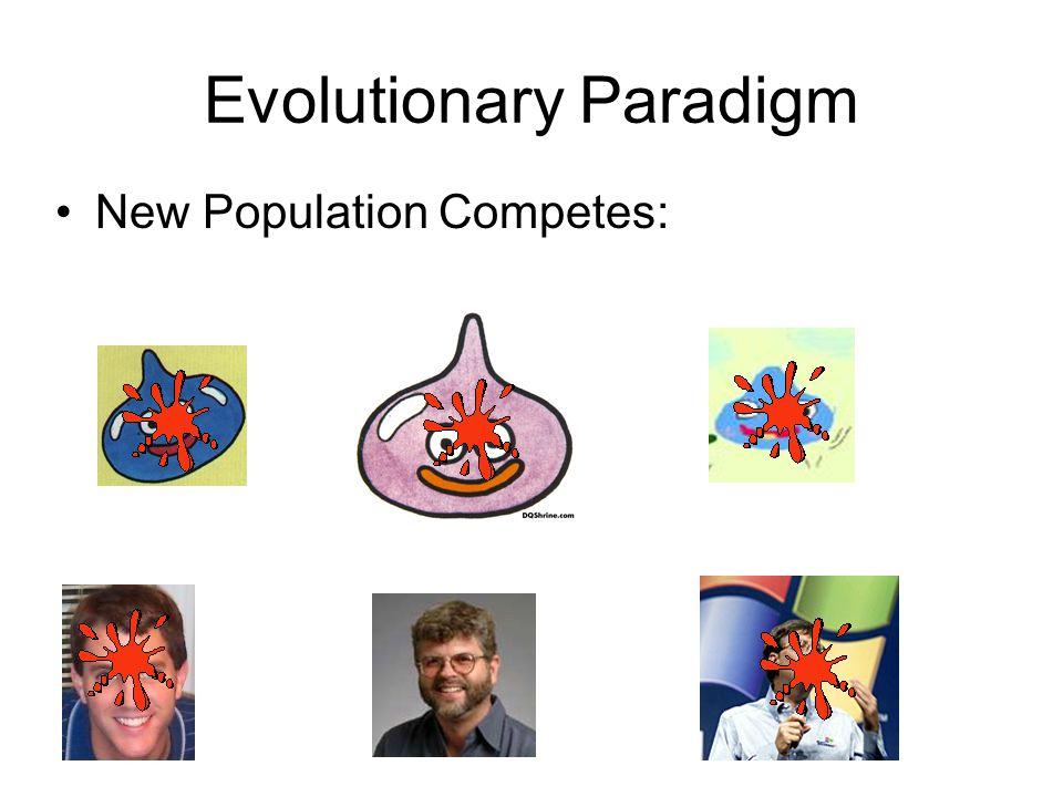 Evolutionary Paradigm New Population Competes: