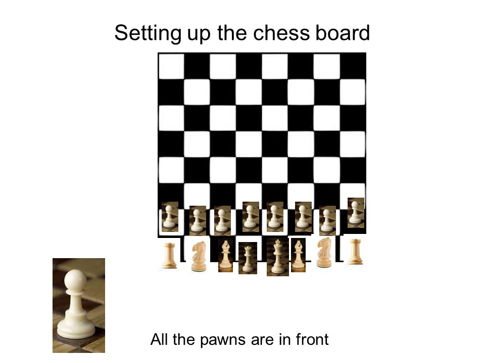Setting up the chess board All the pawns are in front