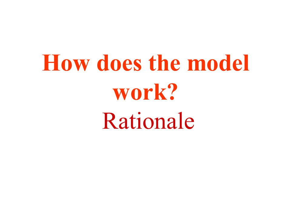 How does the model work? Rationale