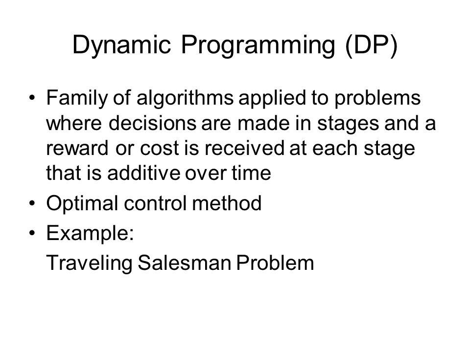 Bellman's Equation Stochastic DP Deterministic DP