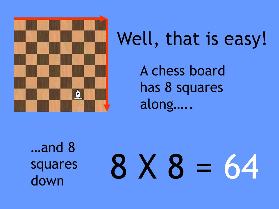 How many squares are there on a chess board? Well lets investigate!