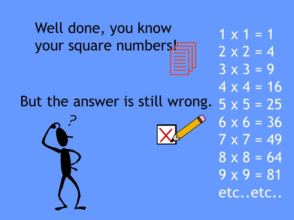 Well, that is easy! A chess board has 8 squares along….. …and 8 squares down 8 X 8 = 64