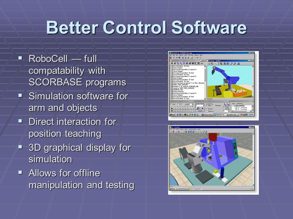 Cognex MVS-8100  PCI Frame Grabber & software visioning system  Captures 640x480 with external cameras  Included Cognex Vision Library(CVL) for capture/manipulation of images