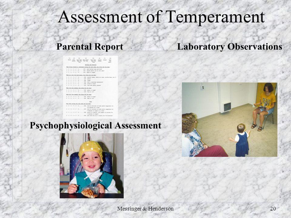 Messinger & Henderson20 Assessment of Temperament Laboratory ObservationsParental Report Psychophysiological Assessment