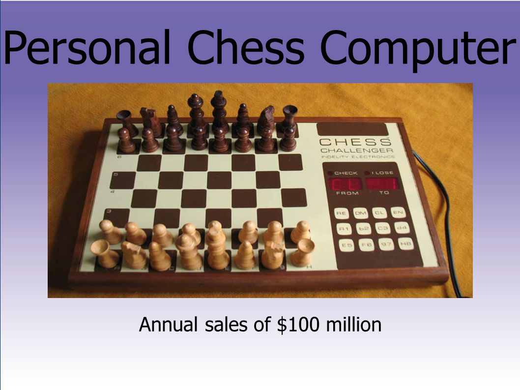 Personal Chess Computer Annual sales of $100 million
