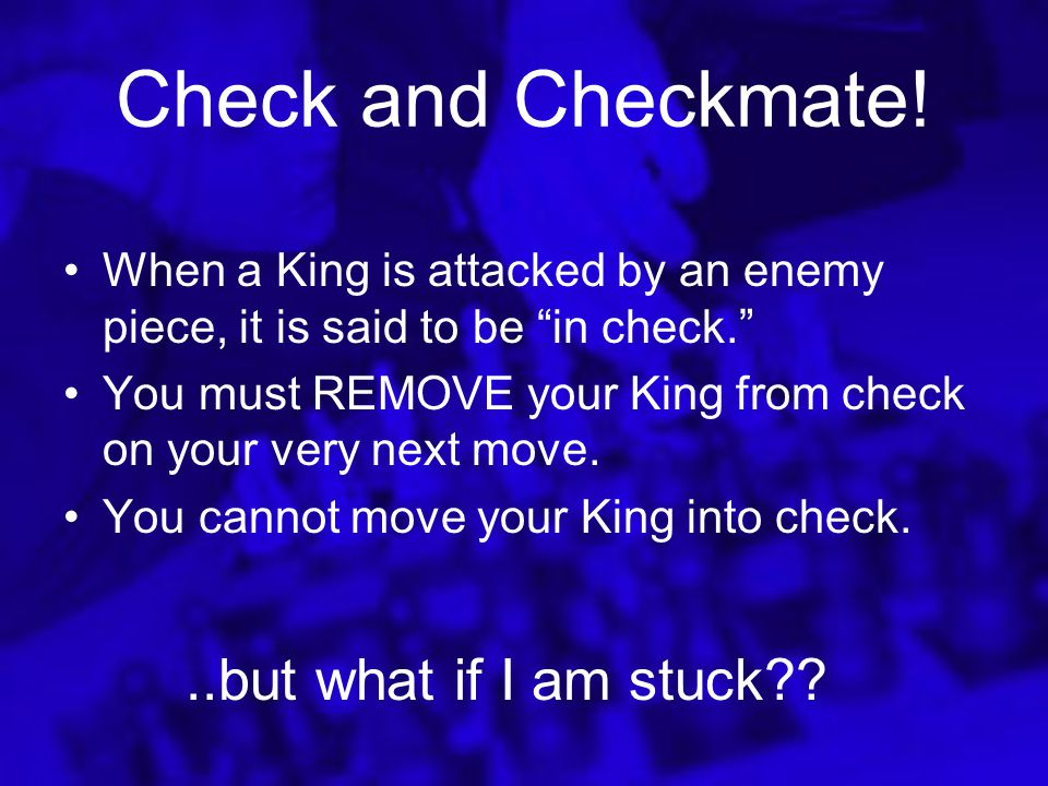 …However All the squares must be empty between the King and Rook in order to castle. If you move your King or Rook earlier in the game you may not cas