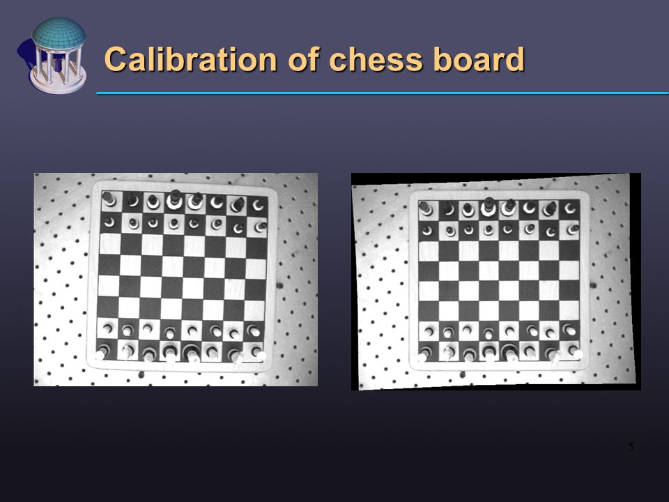 5 Calibration of chess board