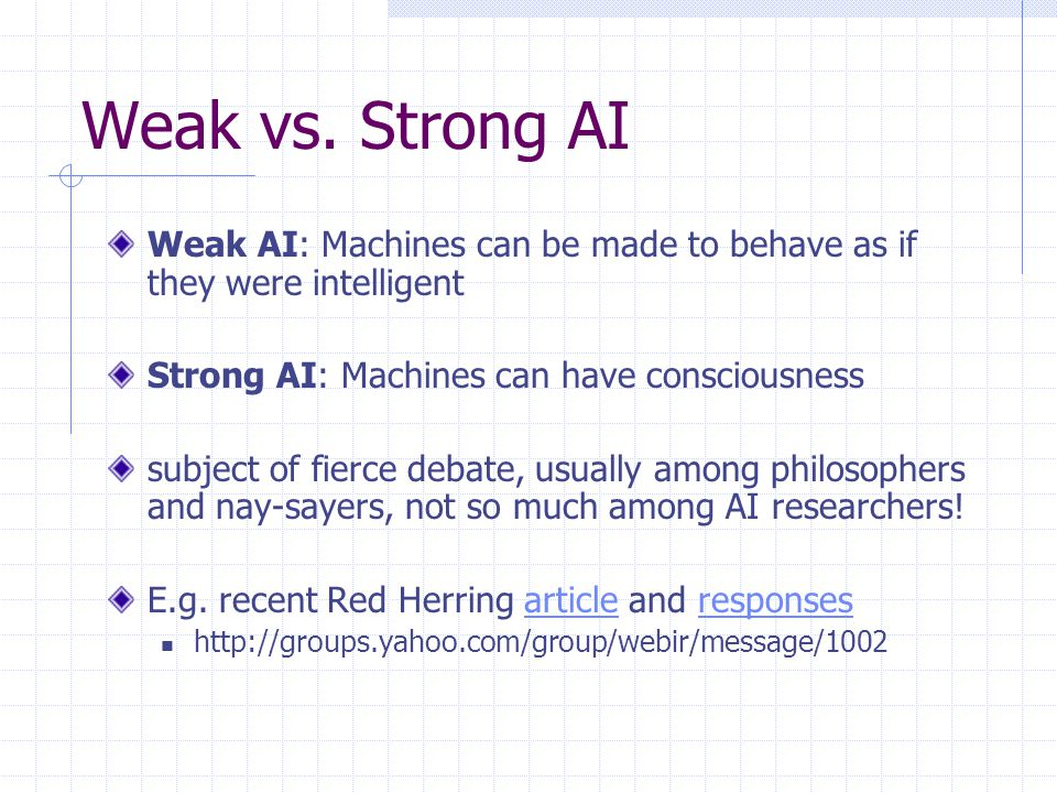 AI Characterizations Discipline that systematizes and automates intellectual tasks to create machines that: Act like humansAct rationally Think like humansThink rationally