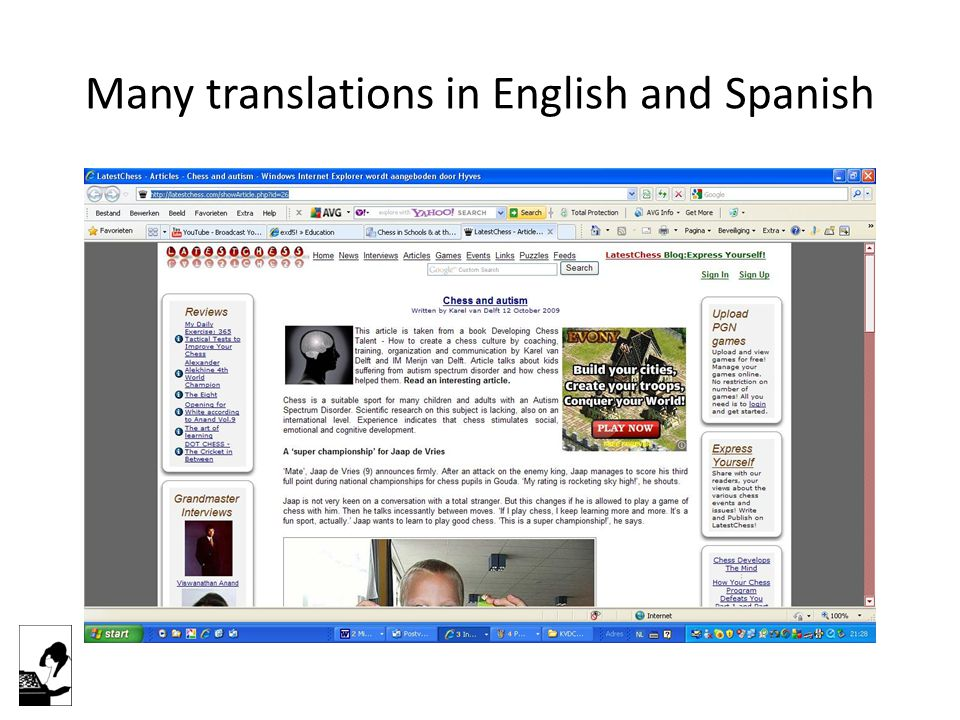 Many translations in English and Spanish