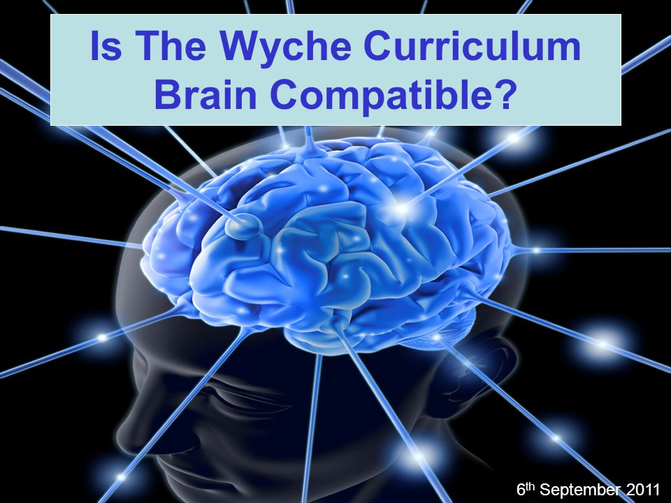 Is The Wyche Curriculum Brain Compatible? 6 th September 2011