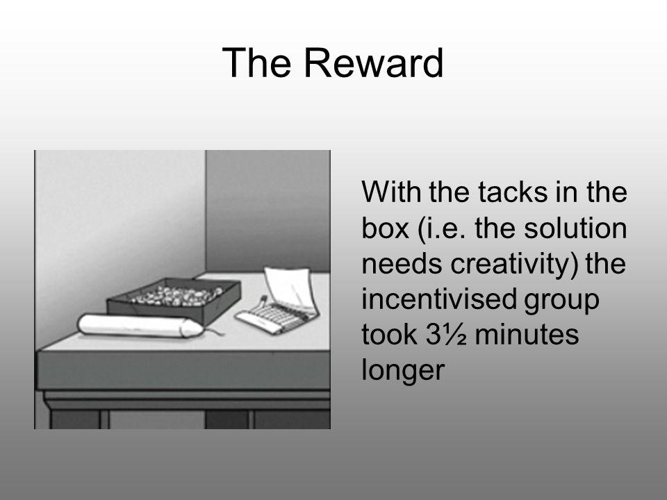 The Reward With the tacks in the box (i.e.