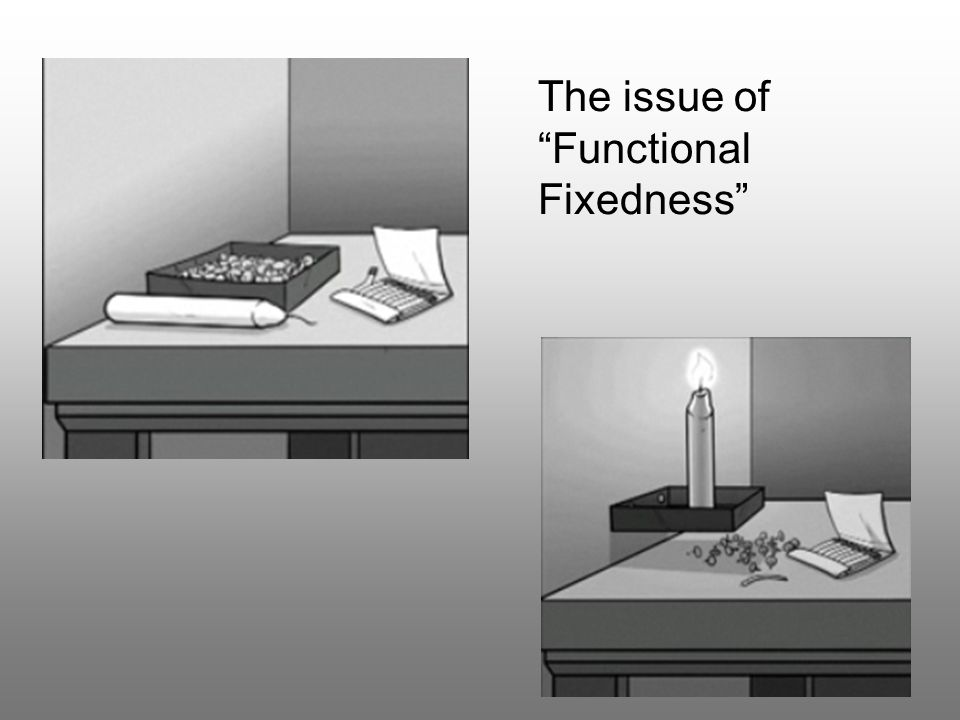 The issue of Functional Fixedness